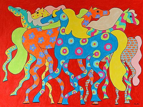 Colourful Horses