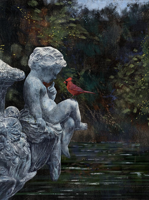 Cherub and Cardinal
