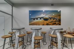 Sala de descanso para tomar café