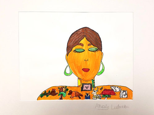 """""""MADRE"""" WATERCOLOR DRAWING"""