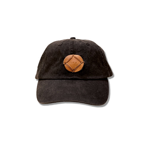 CHARCOAL/LEATHER OWS PATCH HAT