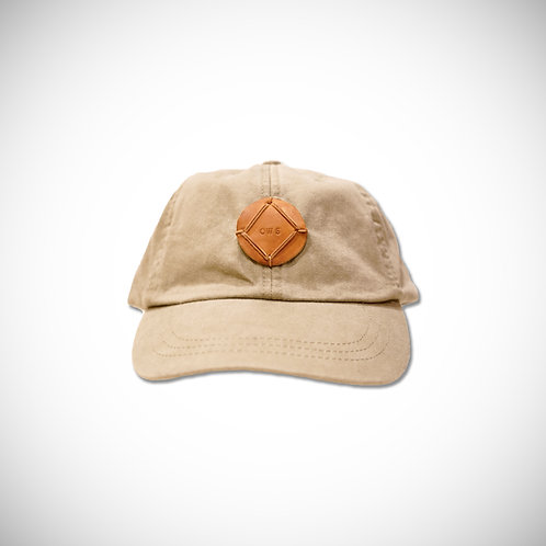 KHAKI/LEATHER OWS PATCH HAT