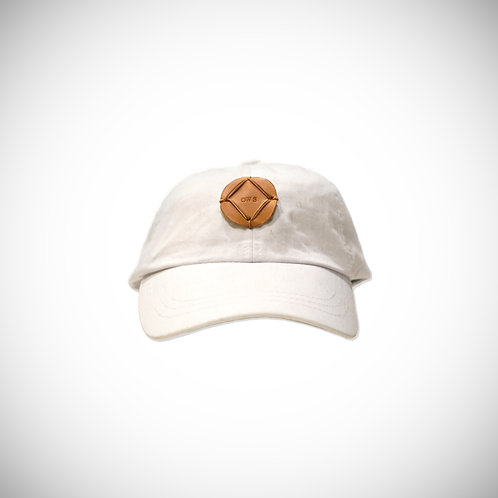 WHITE/LEATHER OWS PATCH HAT