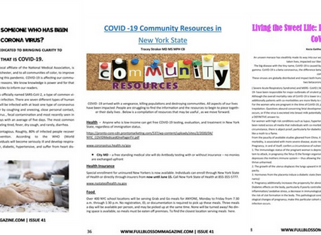 COVID-19 Pandemic in our Community: Learn to Survive
