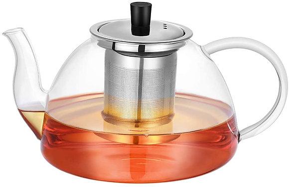 Large 1200ml Glass Teapot