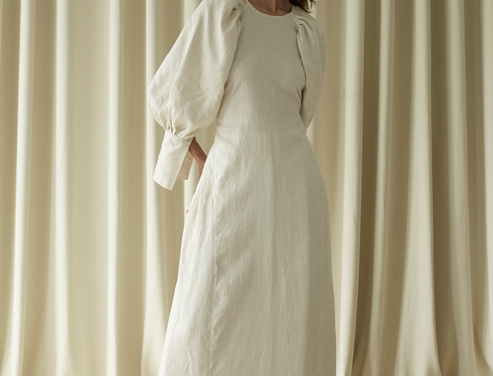 LINEN CLASSIC LEISURE DRESS (AVAILABLE ON MAY 15TH))