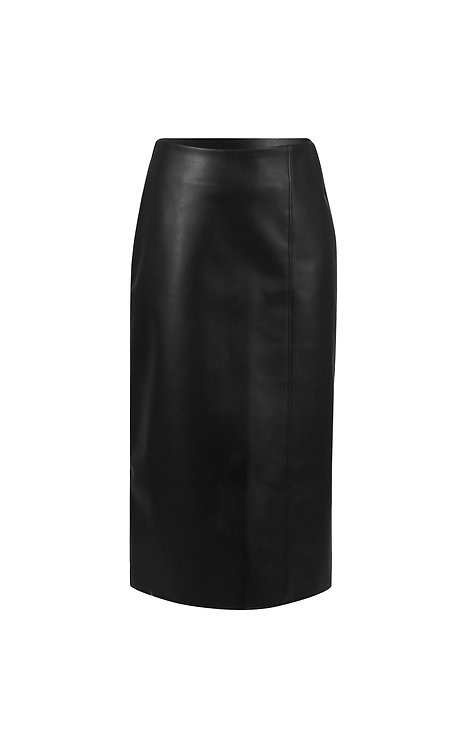 VEGAN LEATHER RECTANGLE SKIRT