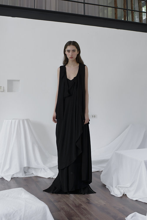 DECONSTRUCT DRAPED DRESS