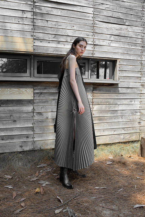 ACCORDIAN PLEATED DRESS