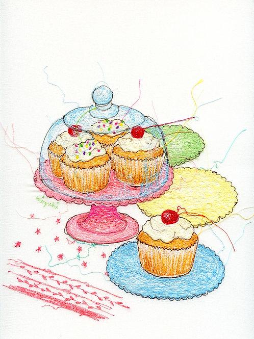 9.5x12 Cupcake