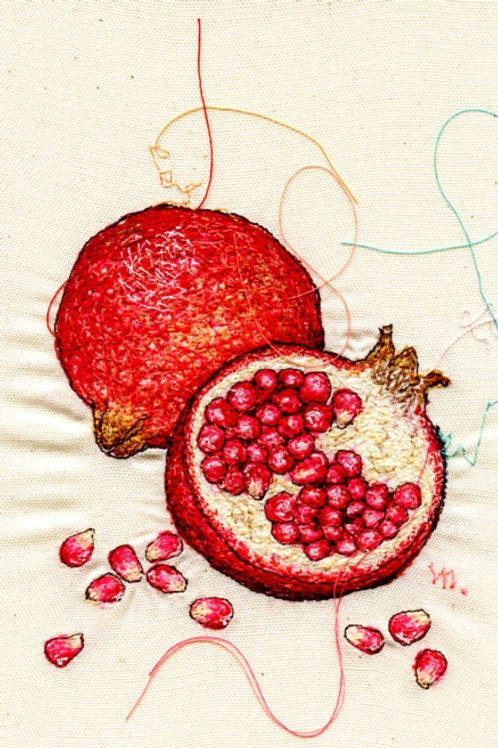 5x7 Pomegranate