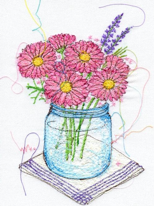 5x7 Pink Flower