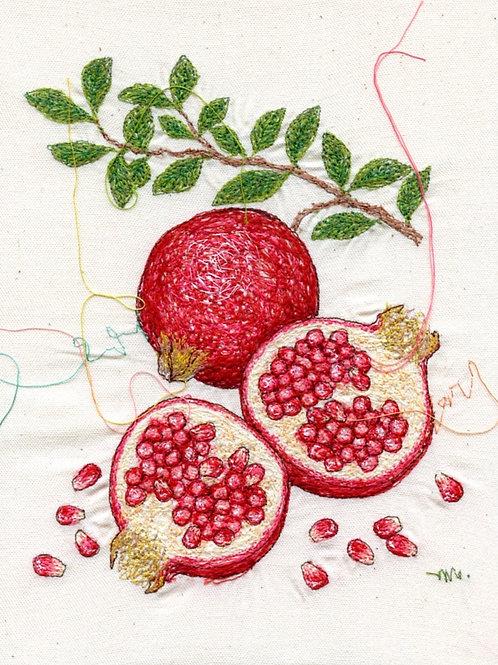 6.5x8.5 Pomegranate