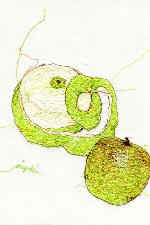 5x7 Green Apple