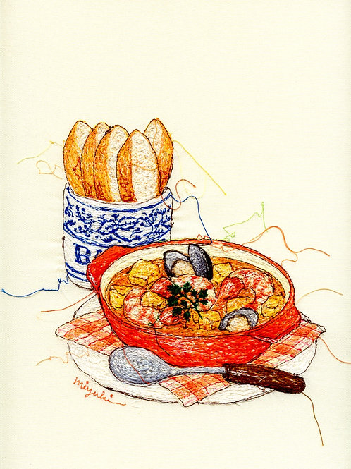 9.5x12 Red-Seafood