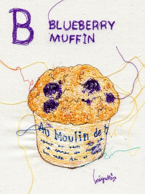 5x7 blueberry muffin