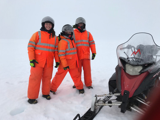 Snowmobiling on an Icelandic Glacier