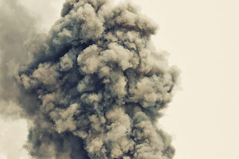 Black powder explosion.Colored cloud.Bla