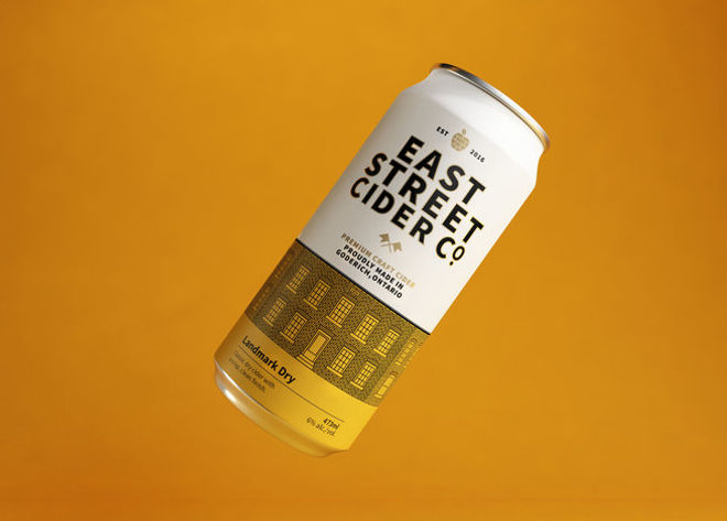 Can of East Street Cider Landmark Dry