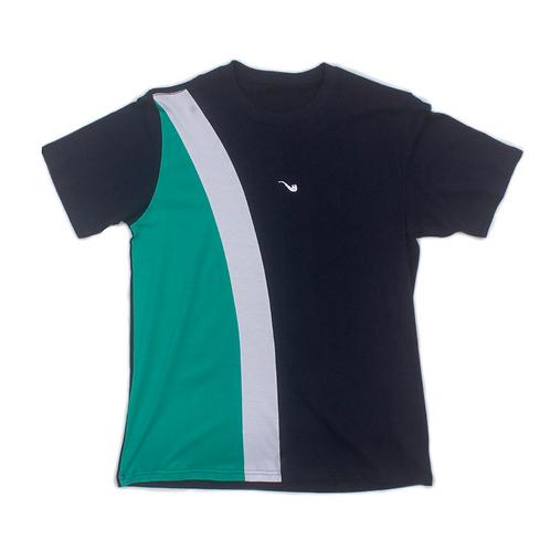 Camiseta Pipe Tricolor Diagonal Azul Marinho