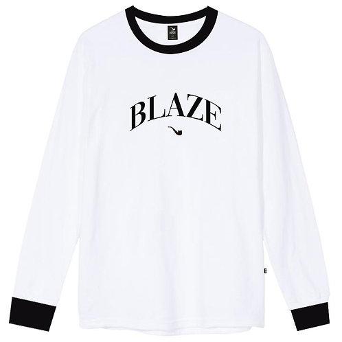Camiseta Manga Longa College Branca