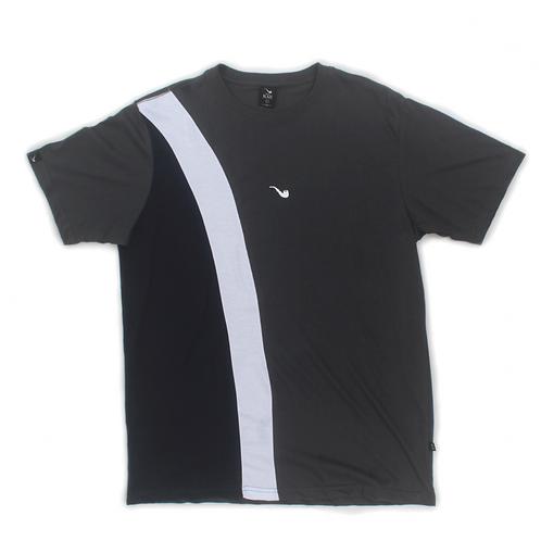 Camiseta Pipe Tricolor Diagonal Cinza