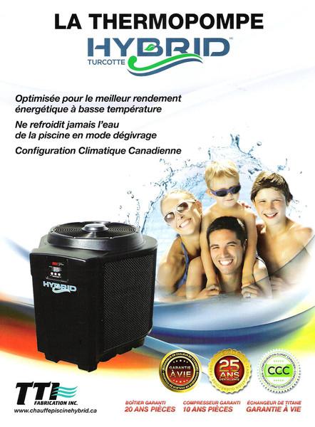Pub thermopompe chauffe piscine Hybrid Climatisation Arel