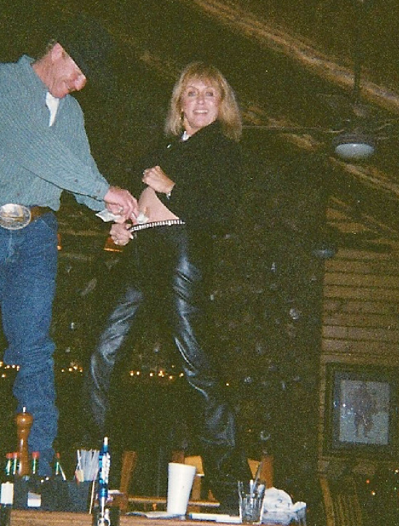 Rowdy and I dancing on the bar at the St