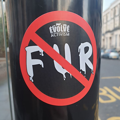 15x Anti Fur Activism Stickers
