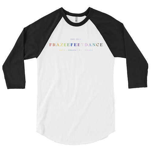 Frazee Feet Dance Logo 3/4 Sleeve T-shirt