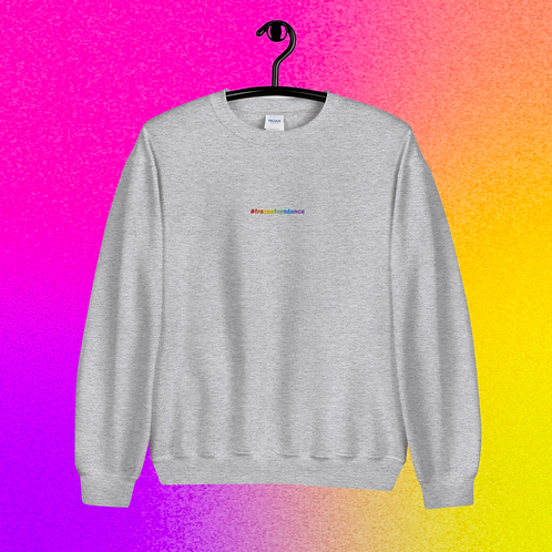 Rainbow Hashtag Crewneck