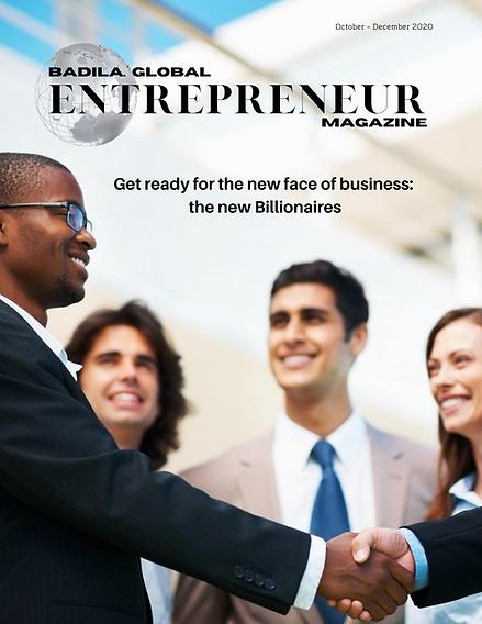 Global Entrepreneur Magazine Oct issue .