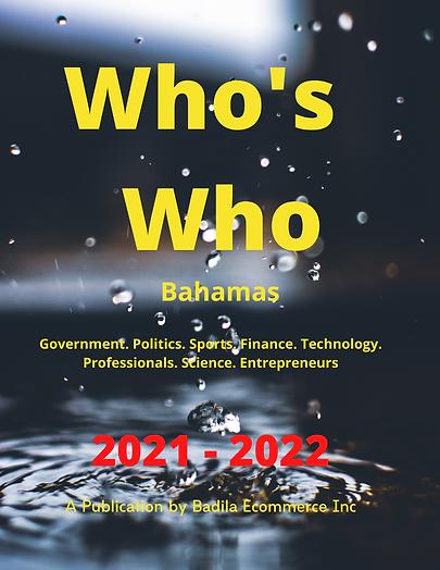 Who's Who BAHAMAS 2021-2022 yellow print