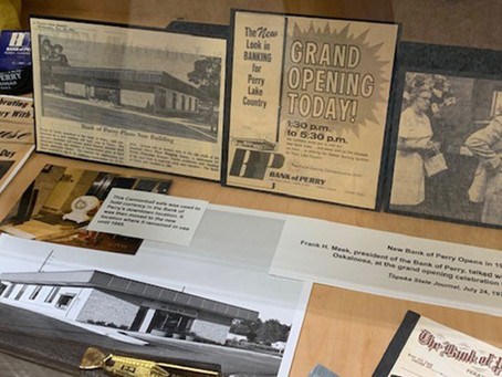 New Perry History Pocket Museum Exhibit Opens at First State Bank & Trust