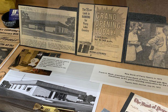 The History of Banking in Perry exhibit