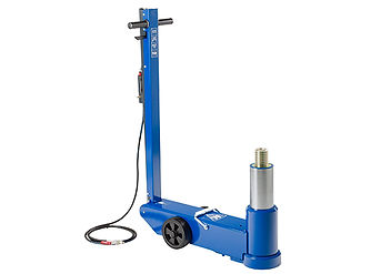 Air hydraulic aircraft jack with extra long stroke