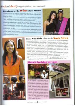 Hair & Beauty Africa (SA) Feb 2007.