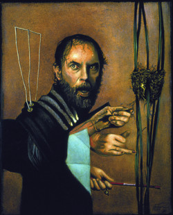 Self-portrait by three hands