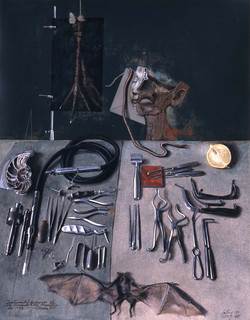 The doctor's surgical instruments
