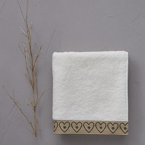 Handdoek bonheur beige