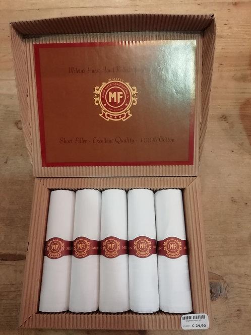 Sigarendoos zakdoeken wit