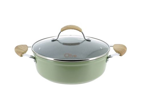 Olive Lage kookpot met deksel 24cm