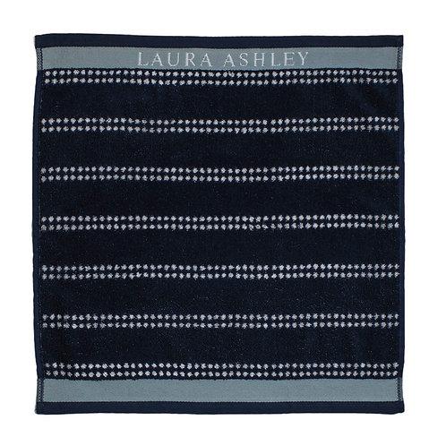 Handdoek stripe blauw