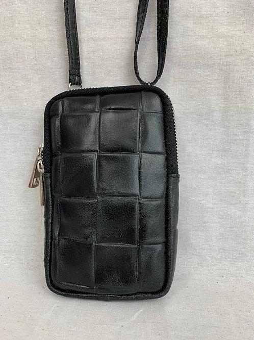 Telefoontasje zwart