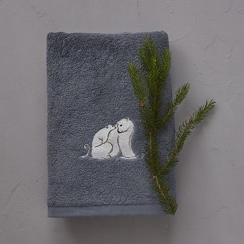 Badhanddoek XL ijsbeer grijs