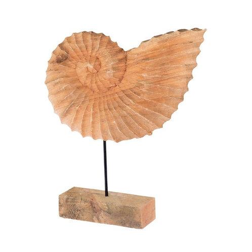 Ornament hout Fossiel L