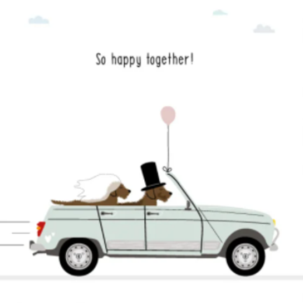 Wenskaart So happy together