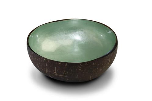 Noya bowl green metallic leaf