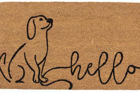 Deurmat hello dog