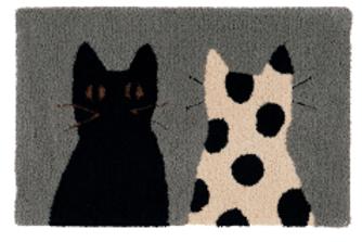 Tapijt Katten grijs